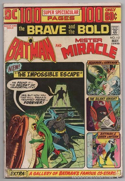 BATMAN AND MR. MIRACLE # 112 DC THE BRAVE AND THE BOLD IRV NOVICK JIM APARO AQUAMAN 100 PAG EXCELENT (Tebeos y Comics - Novaro - Batman)