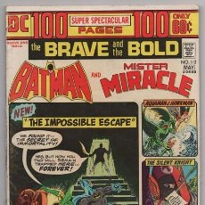 Tebeos: BATMAN AND MR. MIRACLE # 112 DC THE BRAVE AND THE BOLD IRV NOVICK JIM APARO AQUAMAN 100 PAG EXCELENT. Lote 57672168