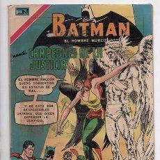 Tebeos: BATMAN # 559 NOVARO 1970 CAMPEONES DE LA JUSTICIA SUPERMAN FLASH TORNADO ROJO HALCON EXCELENTE. Lote 58362185