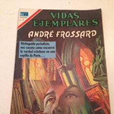 Tebeos: VIDAS EJEMPLARES Nº 329. ANDRE FROSSARD. NOVARO. . Lote 60520103