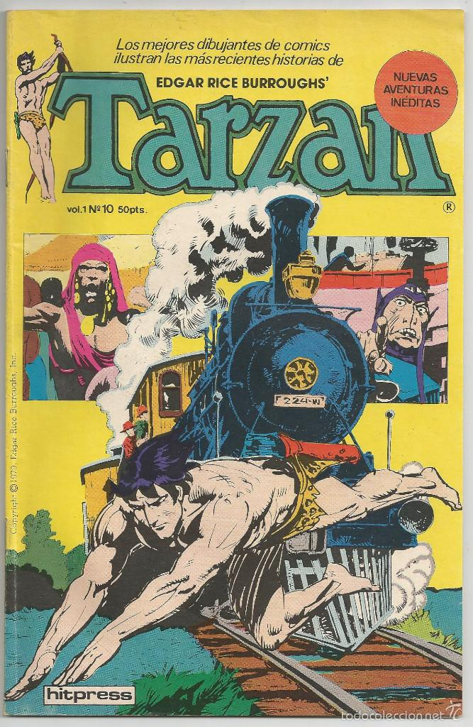 TARZAN - Nº 10 *EL TREN DEL ORO* - HITPRESS 1980 (Tebeos y Comics - Novaro - Tarzán)
