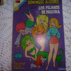 Tebeos: NOVARO DOMINGOS ALEGRES LOS PELIGROS DE PAULINA 959. Lote 95496311