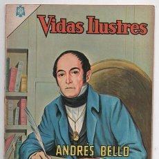 Tebeos: VIDAS ILUSTRES # 118 NOVARO 1965 VENEZUELA DON ANDRES BELLO GRAMATICA DE LA LENGUA MUY BUEN ESTADO. Lote 62712976