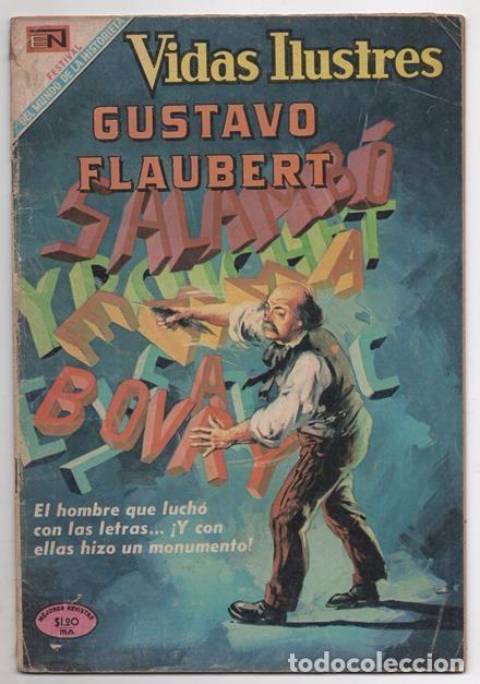 VIDAS ILUSTRES # 216 NOVARO 1968 GUSTAVO FLAUBERT MADAME BOVARY BUEN ESTADO (Tebeos y Comics - Novaro - Vidas ilustres)