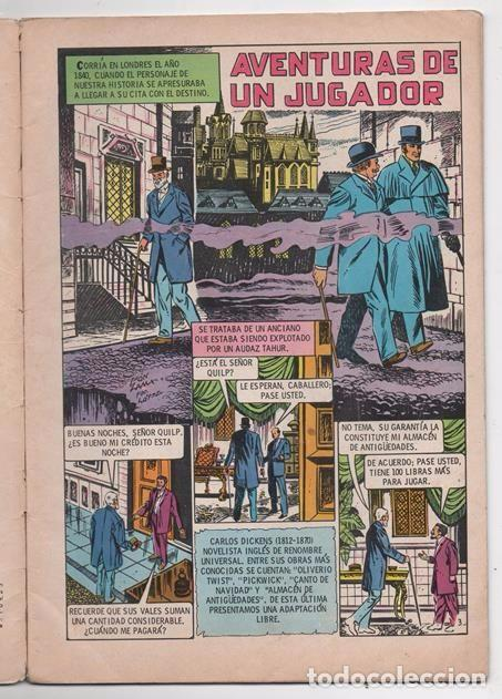 Tebeos: VIDAS ILUSTRES # 323 NOVARO 1973 CHARLES DICKENS ALMACEN DE ANTIGUEDADES AVENTURAS DE UN JUGADOR - Foto 2 - 62739176