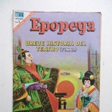 Tebeos: EPOPEYA Nº111 BREVE HISTORIA DEL TEATRO / NOVARO 1967. Lote 62745256