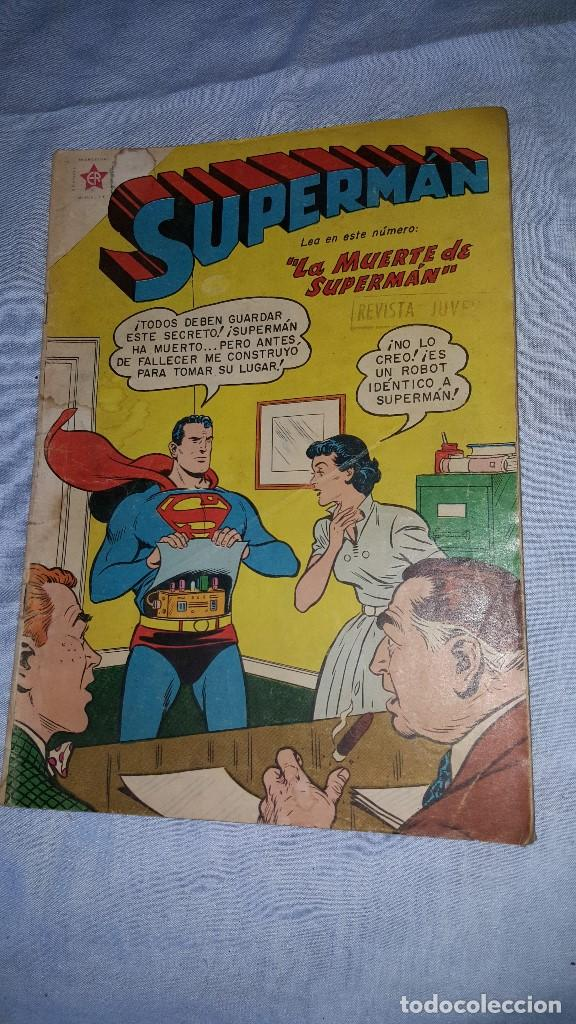 SUPERMAN Nº 162 - 26-11-1958 - LA MUERTE DE SUPERMAN (Tebeos y Comics - Novaro - Superman)