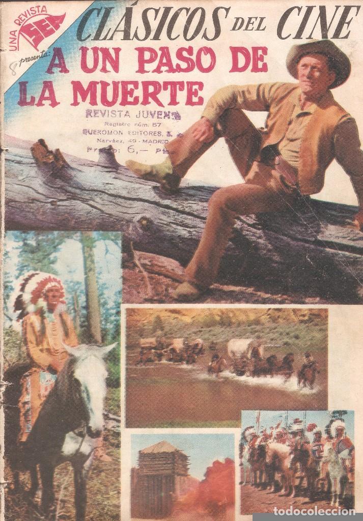 CLÁSICOS DEL CINE - A UN PASO DE LA MUERTE - AÑO I - Nº 8 - EDT. NOVARO - 10 DE JULIO DE 1957. (Tebeos y Comics - Novaro - Otros)