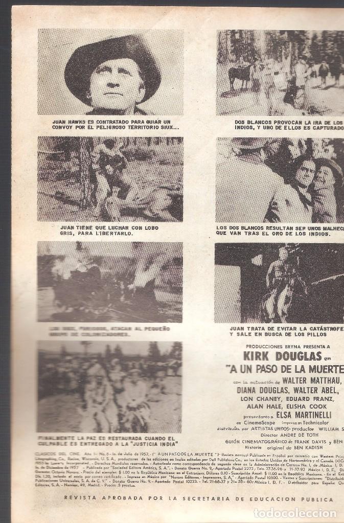 Tebeos: CLÁSICOS DEL CINE - A UN PASO DE LA MUERTE - AÑO I - Nº 8 - EDT. NOVARO - 10 DE JULIO DE 1957. - Foto 2 - 63784719