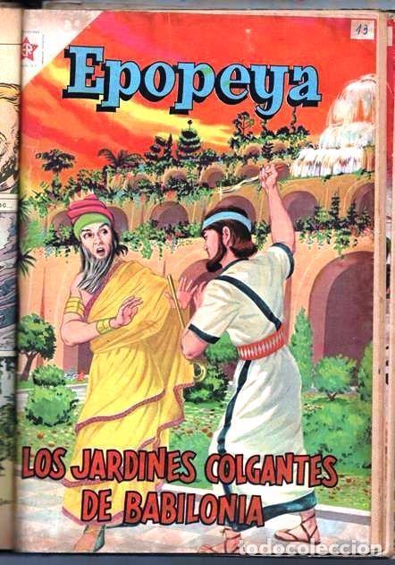1 TOMO CON 15 COMICS NOVARO 1958 A 1961 EPOPEYA REVOLUCION FRANCESA AYACUCHO POMPEYA SUEZ CHINA.... (Tebeos y Comics - Novaro - Epopeya)