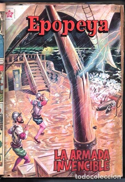 Tebeos: 1 TOMO CON 15 COMICS NOVARO 1958 A 1961 EPOPEYA REVOLUCION FRANCESA AYACUCHO POMPEYA SUEZ CHINA.... - Foto 4 - 64735127