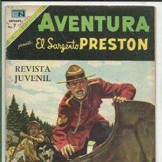 Tebeos: AVENTURA 587: EL SARGENTO PRESTON, 1969, NOVARO MUY BUEN ESTADO. Lote 65707574