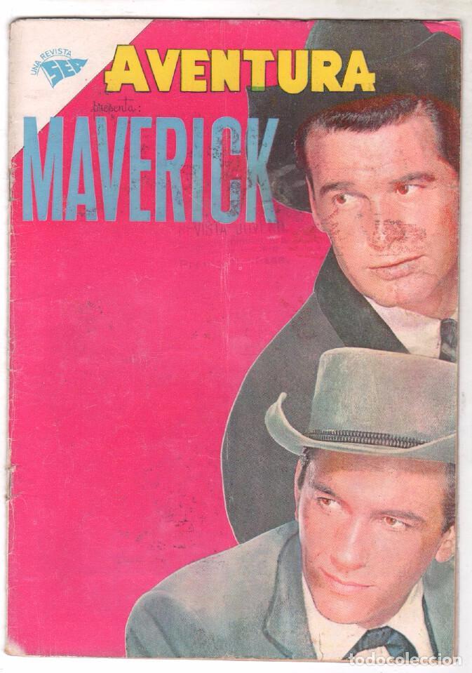 AVENTURA Nº 183 - SEA - NOVARO 1961 - MAVERICK (Tebeos y Comics - Novaro - Aventura)