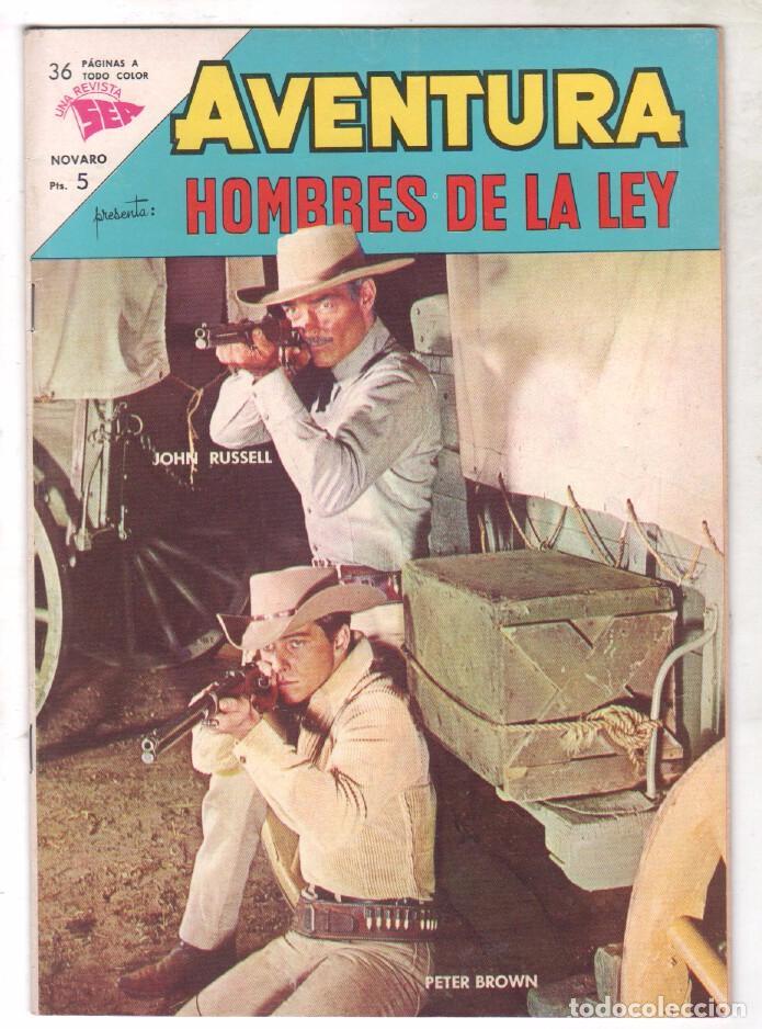 AVENTURA Nº 297 - SEA - NOVARO 1963 - HOMBRES DE LA LEY (Tebeos y Comics - Novaro - Aventura)