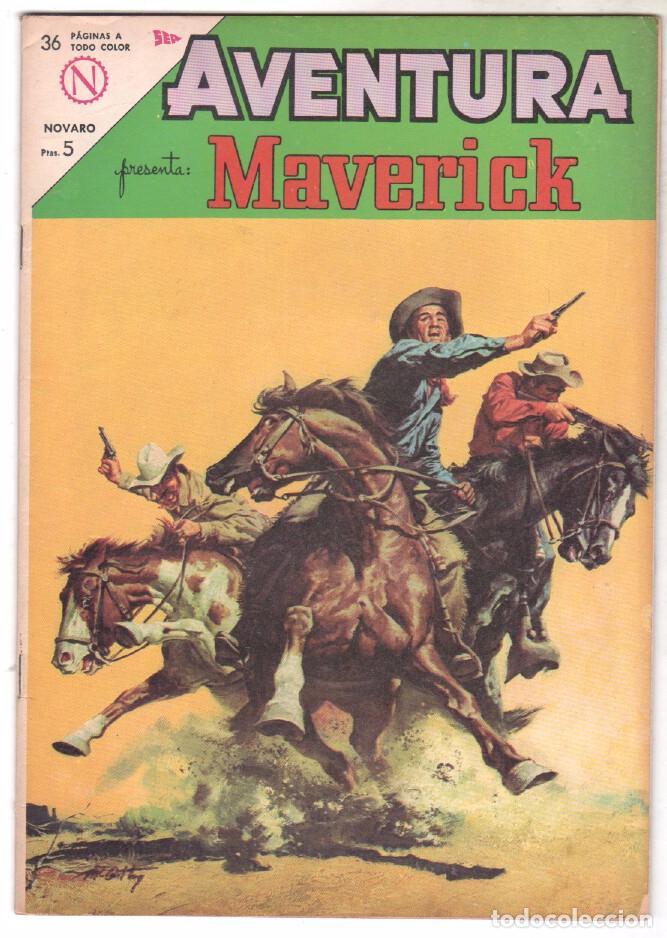 AVENTURA Nº 318 - NOVARO 1964 - MAVERICK (Tebeos y Comics - Novaro - Aventura)
