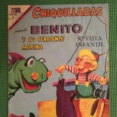 Tebeos: CHIQUILLADAS Nº 262 ED. NOVARO - BENITO Y SU SERPIENTE MARINA. Lote 67777797