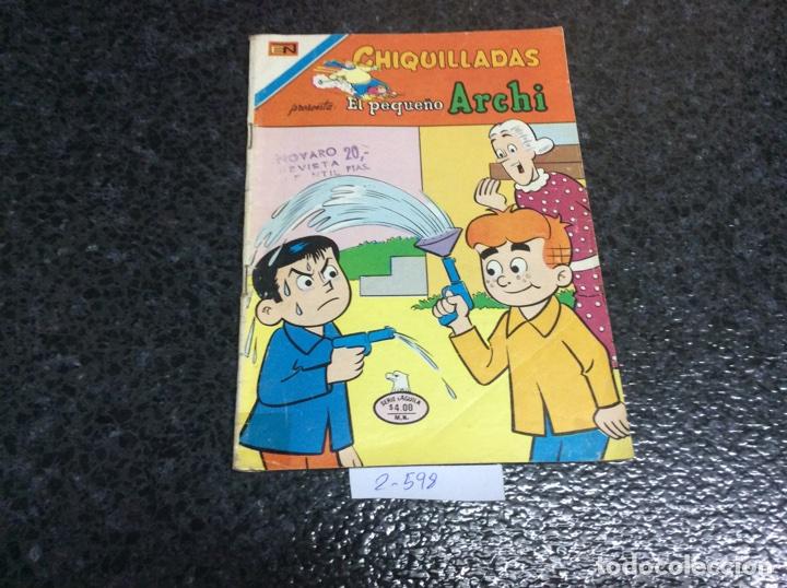 CHIQUILLADAS Nº 2-598 EL PEQUEÑO ARCHI -ED. EDITORIAL NOVARO (Tebeos y Comics - Novaro - Otros)