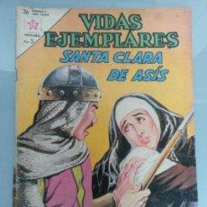 Tebeos: VIDAS EJEMPLARES 160 SANTA CLARA DE ASIS NOVARO 1963. Lote 69989405