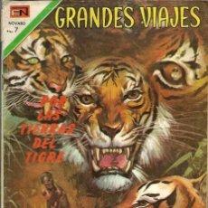 Tebeos: GRANDES VIAJES Nº 107 - POR LAS TIERRAS DEL TIGRE - NOVARO 1971 - VER DESCRIPCION. Lote 73574343