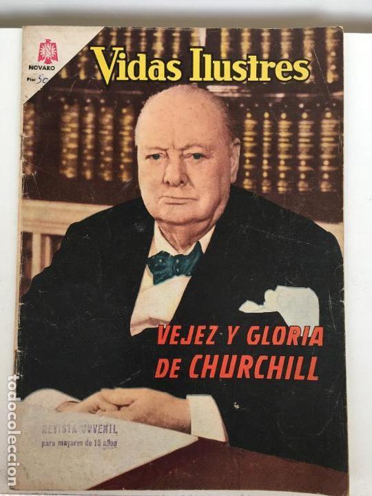 VIDAS ILUSTRES- CHURCHILL- NOVARO NUMERO 113 - AÑO 1965 (Tebeos y Comics - Novaro - Vidas ilustres)