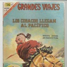 Tebeos: GRANDES VIAJES 49: LOS COSACOS LLEGAN AL PACÍFICO, 1967, NOVARO, BUEN ESTADO.. Lote 75278687