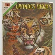 Tebeos: GRANDES VIAJES Nº 107: POR LAS TIERRAS DEL TIGRE, 1971, NOVARO, BUEN ESTADO. Lote 75279399