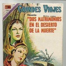 Tebeos: GRANDES VIAJES Nº 143: DOS MATRIMONIOS EN EL DESIERTO DE LA MUERTE, 1973, NOVARO, BUEN ESTADO. Lote 75279883