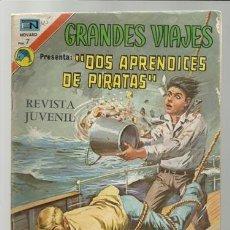 Tebeos: GRANDES VIAJES 125: DOS APRENDICES DE PIRATAS, 1973, NOVARO, BUEN ESTADO.. Lote 75281171