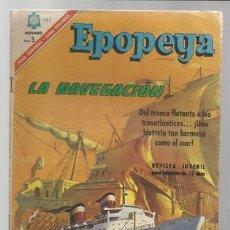 Tebeos: EPOPEYA 101: LA NAVEGACIÓN, 1966, NOVARO, BUEN ESTADO.. Lote 75290499