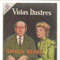 Tebeos: VIDAS ILUSTRES 106: AMADO NERVO, 1964, NOVARO, USADO. Lote 75783619
