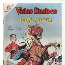 Tebeos: VIDAS ILUSTRES 107: LEÓN TOLSTOI, 1964, NOVARO, USADO. Lote 75783931