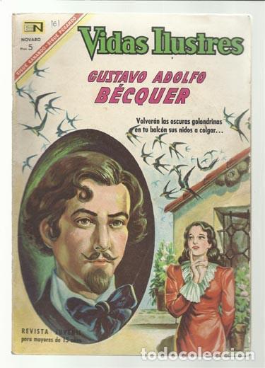 VIDAS ILUSTRES 161: GUSTAVO ADOLFO BÉCQUER, 1967, NOVARO, BUEN ESTADO. (Tebeos y Comics - Novaro - Vidas ilustres)