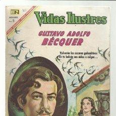 Tebeos: VIDAS ILUSTRES 161: GUSTAVO ADOLFO BÉCQUER, 1967, NOVARO, BUEN ESTADO.. Lote 75786023