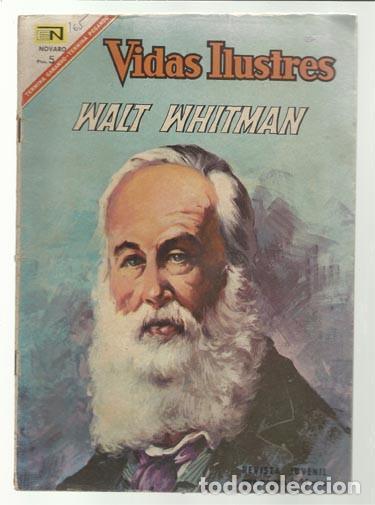 VIDAS ILUSTRES 165: WALT WHITMAN, 1967, NOVARO, BUEN ESTADO. (Tebeos y Comics - Novaro - Vidas ilustres)