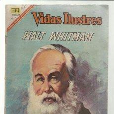 Tebeos: VIDAS ILUSTRES 165: WALT WHITMAN, 1967, NOVARO, BUEN ESTADO.. Lote 75786331