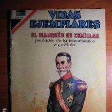 Tebeos: EL MARQUÉS DE COMILLAS. VIDAS EJEMPLARES. AÑO XV, Nº 260 NOVARO. Lote 76407031