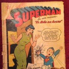 """Tebeos: TEBEO 1959,- SUPERMAN, """" EL NIÑO DE ACERO.... Lote 76720447"""