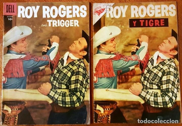 ROY ROGERS # 49 NOVARO 1956 Y ROY ROGERS AND TRIGGER # 96 DELL 1955 MISMO COMIC MUY BUEN ESTADO (Tebeos y Comics - Novaro - Roy Roger)
