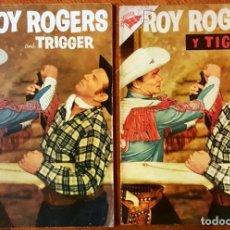 Tebeos: ROY ROGERS # 49 NOVARO 1956 Y ROY ROGERS AND TRIGGER # 96 DELL 1955 MISMO COMIC MUY BUEN ESTADO. Lote 77370373