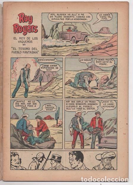 Tebeos: ROY ROGERS # 49 NOVARO 1956 Y ROY ROGERS AND TRIGGER # 96 DELL 1955 MISMO COMIC MUY BUEN ESTADO - Foto 3 - 77370373