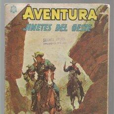 Tebeos: AVENTURA 394: JINETES DEL OESTE, 1965, NOVARO USADO.. Lote 77409001