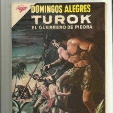 Livros de Banda Desenhada: TUROK EL GUERRERO DE PIEDRA - DOMINGOS ALEGRES N° 436- ORIGINAL EDITORIAL NOVARO. Lote 80449387