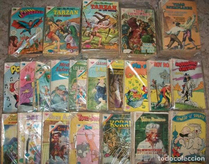 NOVARO (LOTE DE 200 TEBEOS) VER DESCRIPCION (Tebeos y Comics - Novaro - Otros)