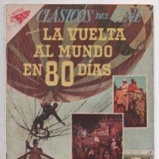 Tebeos: CLASICOS DEL CINE # 10 NOVARO 1957 LA VUELTA AL MUNDO EN 80 DIAS NIVEN CANTINFLAS MUY BUEN ESTADO. Lote 80444965