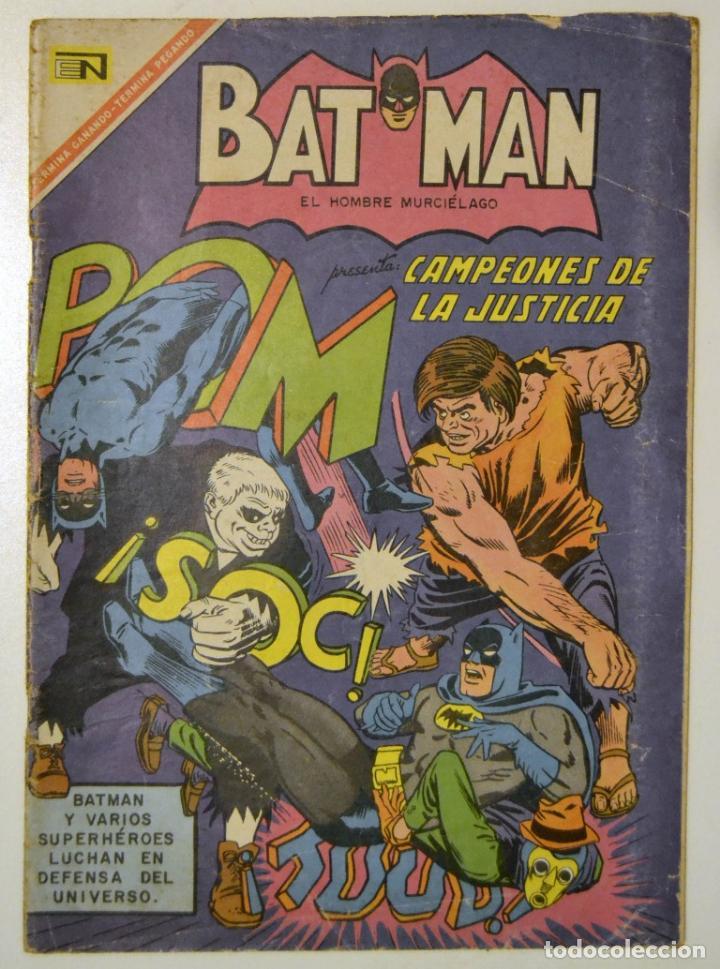 AÑO 1967 / BATMAN - EL HOMBRE MURCIELAGO / N. 375 CAMPEONES DE LA JUSTICIA / NOVARO (Tebeos y Comics - Novaro - Batman)