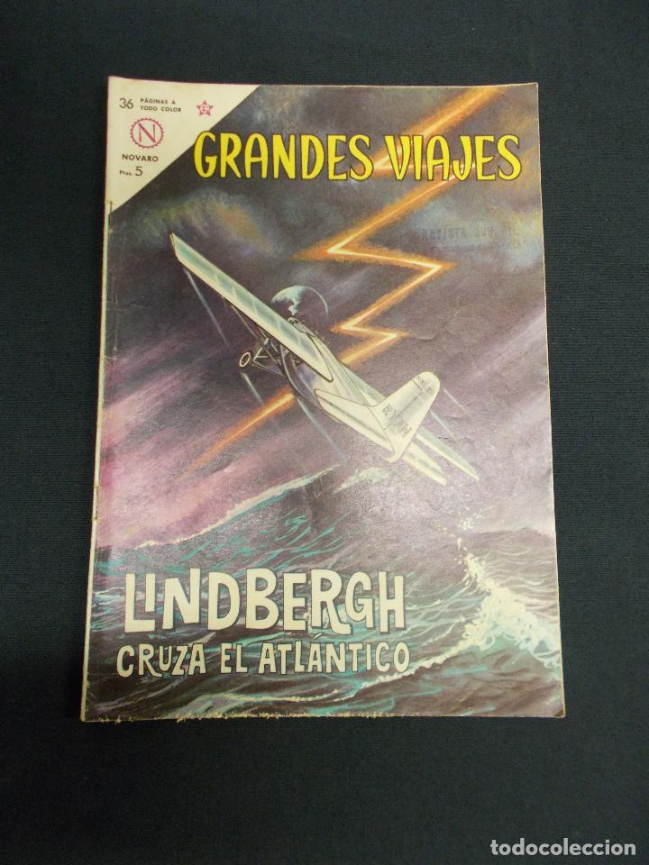 GRANDES VIAJES - Nº 13 - LINDBERGH CRUZA EL ATLANTICO - NOVARO - (Tebeos y Comics - Novaro - Grandes Viajes)