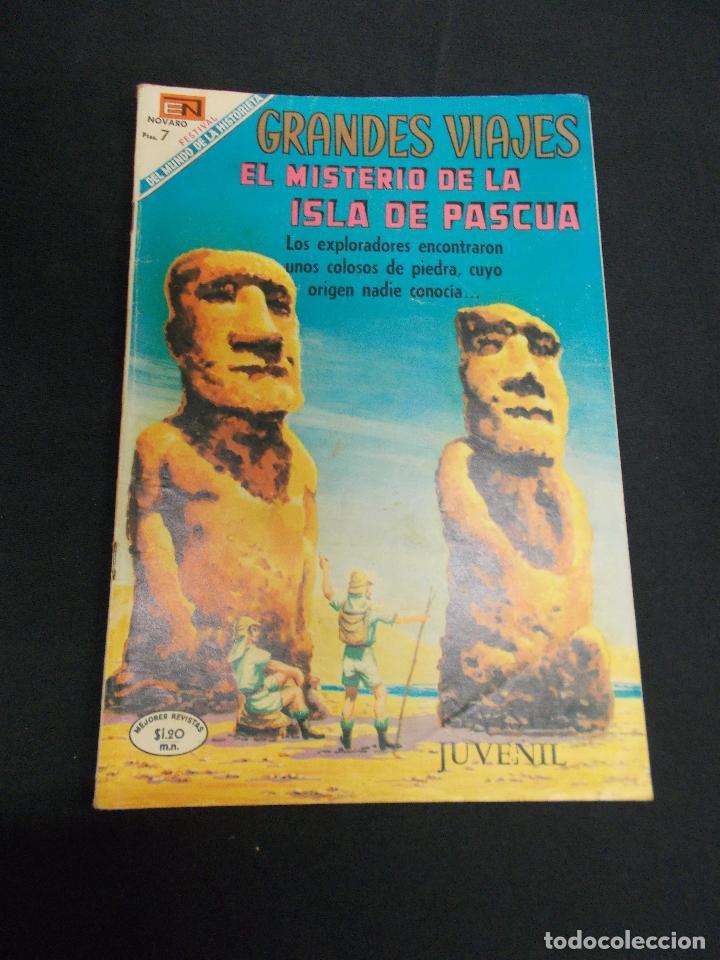 GRANDES VIAJES - Nº 79 - EL MISTERIO DE LA ISLA DE PASCUA - NOVARO - (Tebeos y Comics - Novaro - Grandes Viajes)