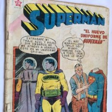 Tebeos: LOT110 COMIC ORIGINAL 1959 SUPERMAN NOVARO Nº 184 EL NUEVO UNIFORME DE SUPERMAN. DIFÍCIL!!!!!!!!!!. Lote 83427908