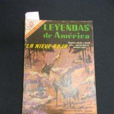 Tebeos: LEYENDAS DE AMERICA - Nº 128 - LA NIEVE ROJA - NOVARO - . Lote 83476060