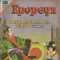 Tebeos: EPOPEYA BREVE HISTORIA DEL TEATRO FINAL Nº 111 A.1967 NOVARO. Lote 84702828